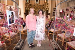 Local artists Anne Egan and Penny Faux are inviting visitors to get a small taste of the experience of refugees through portraits and other media in an interactive installation. There have been contributions to 'Don't Lose Heart' from all over the world Friday 26 August 2016 at St Michaels Church in Bath. PHOTO BY: PAUL GILLIS (www.paulgillisphoto.com) paul@paulgillisphoto.com